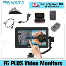 FEELWORLD S55 5.5 Cal IPS na polu kamery Monitor DSLR Focus Assist 1280x720 wsparcie 4K wejście HDMI wyjście DC zawiera ramię uchylne