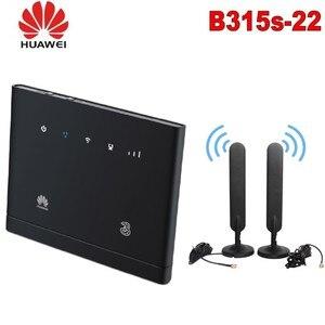 Unlocked Huawei B315 4G CEP Hotspot WIFI Router B315s-22 4G LTE 150mbps Modem +2pcs SMA antenna with LAN/WAN PK B593 B310 B525(China)