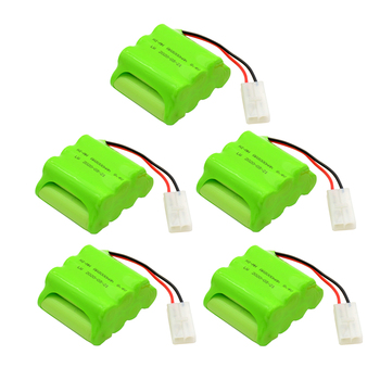 5pcs 8.4V 3000mAh AA NIMH Rechargeable Battery Pack for RC Car Boat Guns lighting remote control electric Tamiya Kep-2p Plug image
