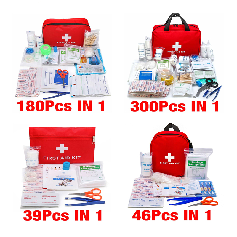 Handy Household First Aid Kit With Labelled Compartments Outdoor Travel Portable Survival Kit Sportsman Series Life Medicine Bag