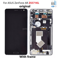 5.7 AMOLED For ASUS ZenFone AR ZS571KL Original LCD Display Touch Screen WithFrame Digitizer For ASUS ZS571KL LCD Burn Shadow