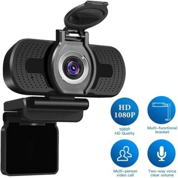 Webcame 1080P Full HD CMOS 30FPS Wide Angle USB Webcam with Privacy Cover Mic Web Cam For Computer PC Conference Web Camera spedal 120° wide angle webcam full hd 1080p with tripod usb camera video conference for computer mac pc