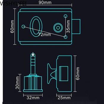 Fechaduras De Segurança Da Porta Exterior Retro Vermelho Múltipla Seguro De Bloqueio Anti-roubo Bloqueio Fechadura Da Porta De Madeira Para A Ferragem Da Mobília