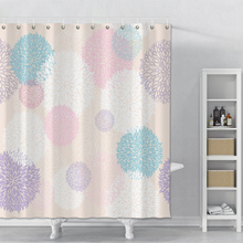 Floral Shower Curtain For Bathroom Waterproof Geometric Shower Curtain With Hooks Polyester Bath Shower Curtain Set Home Decor waterproof floral tree of life shower curtain
