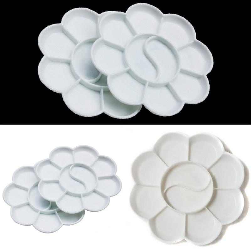 Arte alternativa bandeja de pintura artista acuarela paleta de plástico suministro blanco para pincel