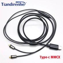 Type c MMCX Upgrade kabel do xiaomi 6x MX MX2S z mikrofonem do HUAWEI Mate10 P20 Samsung A8S A60 Sony T9 XZ XZ2 kabel do słuchawek