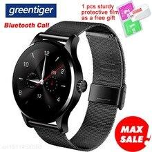 Greentiger K88H 블루투스 스마트 워치 심박수 모니터 피트니스 트래커 Smartwatch Sport 안드로이드 IOS 용 스마트 팔찌