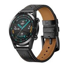 Correa de cuero para reloj HUAWEI WATCH GT 2, 46mm, 42mm, accesorios reemplazables para HONOR Magic / MagicWatch 2