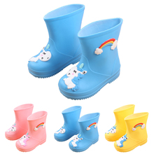 Kids Slip Shoes Unicorn Boots Kids Cartoon Shoes Rainboots Kids Rubber Shoe Waterproof Shoes Kid Rain Boots Baby Girl Rain Boots цена