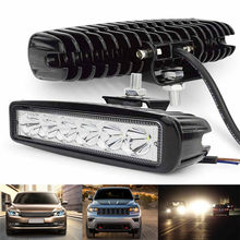 Lampu Kerja LED 12 V Kabut Mengemudi Offroad Mobil Tahan Air Adjustable LED Kerja Lampu Bar Lampu Sorot Flood Lampu 18 W 6000 K(China)