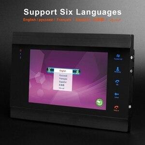 Image 2 - HomeFong проводной видео дверной звонок с CCTV камерой 7 дюймов монитор дверной Звонок камера видеодомофон для дома Поддержка обнаружения движения