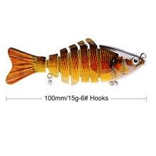 1PCS Fishing Lure Multi Jointed Hard Bait 10cm 15g Lifelike joint bait Wobblers 7 Segments Swimbait Crankbait