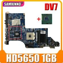 Материнская плата для ноутбука HP Pavilion DV7 DV7-4000, материнская плата DA0LX6MB6H1, поддерживает только I7 HD5650, 1 ГБ, 605320-001, 615307-001