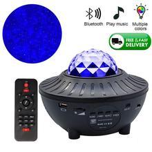 Music-Player Led-Night-Light Galaxy Projector Decor Room-Lights USB Starry Sky Christmas