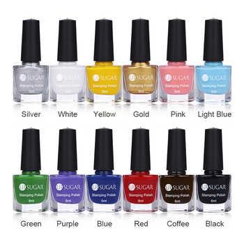 UR SUGAR 12Pcs 6ml Nail Stamping Polish Set Colorful Nail Art Stamp Plate Printing Polish Colors Varnish Stamp varnish - DISCOUNT ITEM  30 OFF Beauty & Health