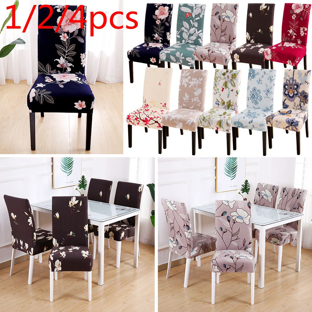 Us 0 81 22 Off 1 2 4pcs Modern Removable Chair Cover Anti Dirty Seat Cover Printing Kitchen Slipcover For Wedding Restaurant Housse De Chaise On