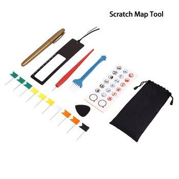 8pcs/Bag DIY Scratch World Travel Map Tool Set Scratch Pen Set For Scratch Map Accessories Toys Adventure Maps Tools
