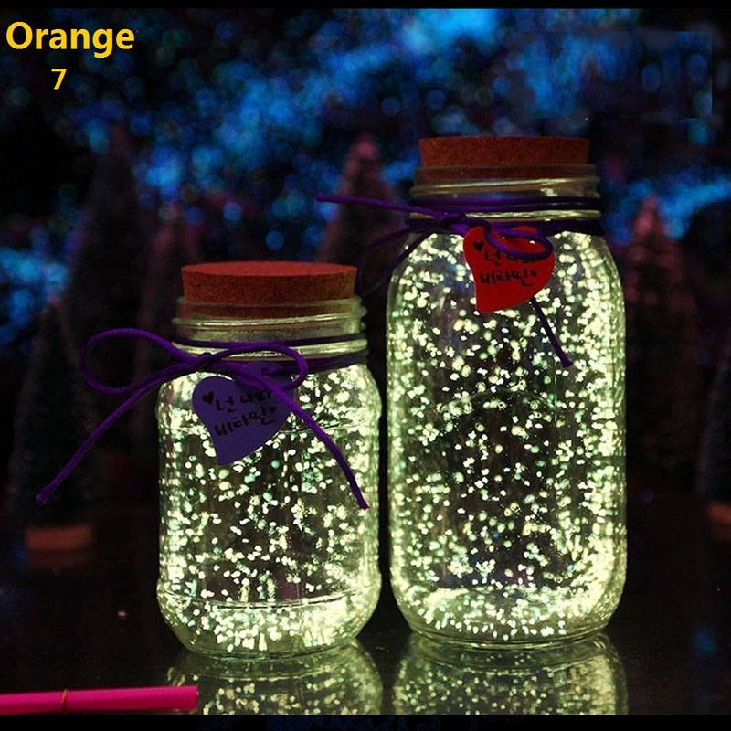 Fish Tank Noctilucent Sand Night Luminous Dark Bright Glow Fluorescent Particles Aquarium Fish Tank Decoration