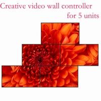 Controlador video criativo da parede para 5 unidades  splicer não especificado  capaz de personalizar o número diferente de emenda Peças de CFTV     -