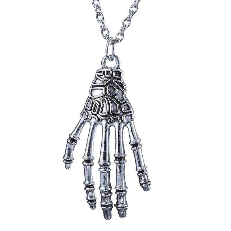 Fashion Jewelry Vintage Punk Charm Skeleton Skull Hand Claw Bone Necklaces Pendant For Men And Women