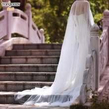 Topqueen длинный шлейф шали женские длинные накидки для свадебной