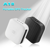 Mini Wearable GPS Tracker A18 Locator Tracking Device For Personal Kids Pets Dogs Elders With Emergency Call Voice Monitoring