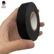 19mm*15M Car Harness Tape Car Vehicle Wiring Harness Noise Sound Insulation Fleece Tape Black Hot Adhesive Cloth Fabric Tape