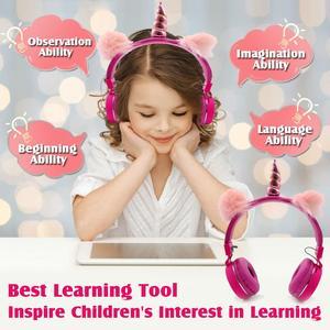Image 4 - Jednorożce słuchawki bezprzewodowe słuchawki Bluetooth dla dzieci składana muzyka stereo rozciągliwy zestaw słuchawkowy dla chłopców dziewcząt prezenty