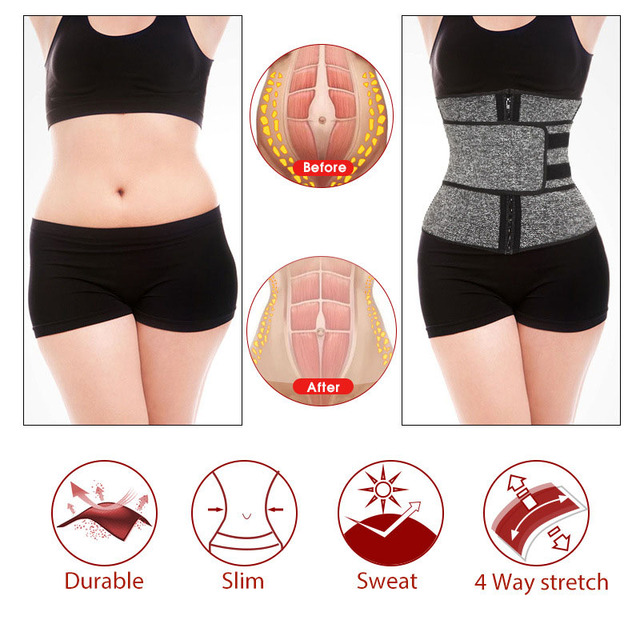 1Pcs Women Body Shaper Belt Hot Sweat Belt Neoprene Sauna Suit for Weight Loss Cincher Workout 2