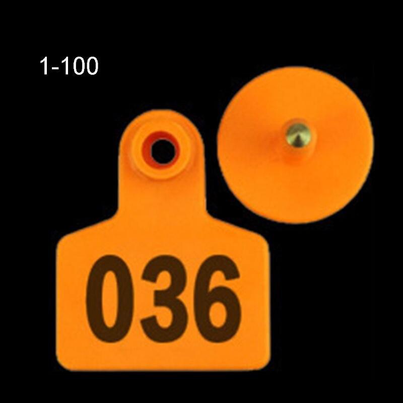 100PCS Soft TPU Ear Tags Livestock Identification Ear Tag Applicator for Pig Cow