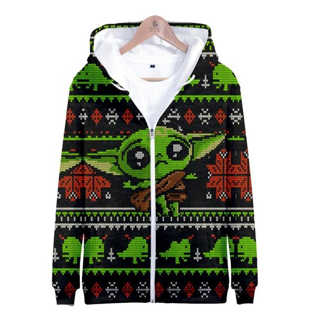 Men's Hooded Jacket Zipper Coats The Mandalorian The Child -Baby Yoda Hoodie High Quality Baby Yoda 3D Print  Sweatshirts 4XL