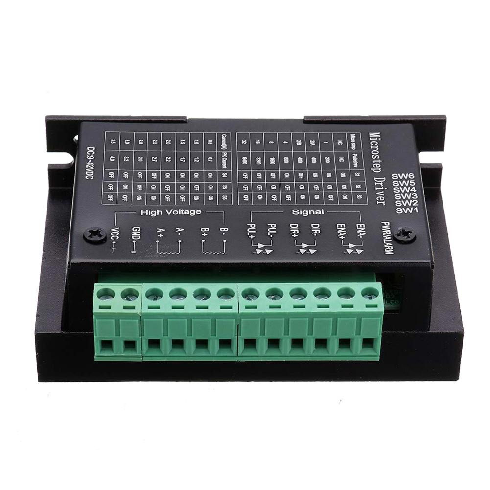 42 V tb6600 32 segmentos 2//4 fase h/íbrido paso a paso motor placa de controlador 4 controladores de motor paso a paso TB6600 4 A 9