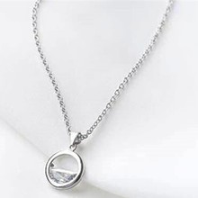 Korean Long Rhinestone Circle Necklaces For Women Wedding Kolye Collares collar femenino(China)