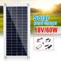 С контроллером 10 а/20 А/30 А  60 Вт/18 в  солнечная панель с двойным выходом USB  поли солнечная панель для зарядки аккумуляторов автомобилей  яхт  л...
