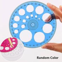 Round Ruler Protractor School 360-Degree Template Circle Drafting-Supplies Random-Color