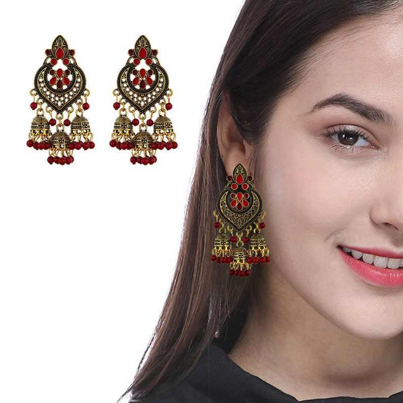 2019 moda feminina jóias estilo boêmio retro oco tibetano prata refinado cor longa borla brincos femininos