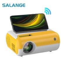 Salange 2800 Lumen Mini Led Home Projector P80 Portable Projetor 1080P Support Proyector for Home Video Beamer Children Gift