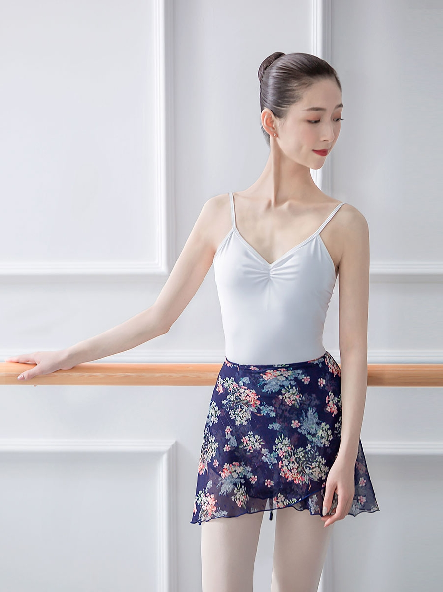 Ballet Chiffon Floral Skirt Ballerina Summer Yoga/Sport Practice Leotard For Women Dance Skirt For Adult Teachers Wrap skirt