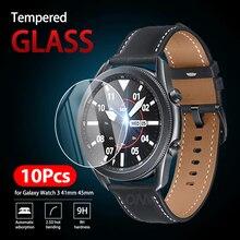 Protector de pantalla de cristal templado 9H Premium para Samsung Galaxy Watch 3, 41mm, 45mm, accesorios de película, 10 Uds.