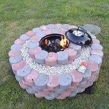 Garden DIY Plastic Mold Path Pavement Model Concrete Stepping Stone Cement Brick Maker DNJ998 стоимость