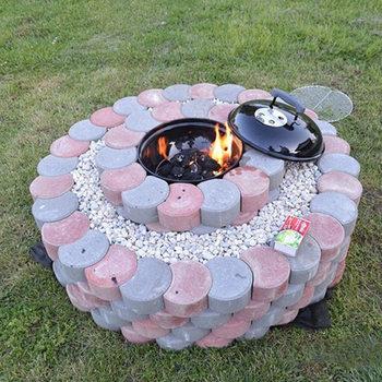 Garden DIY Plastic Mold Path Pavement Model Concrete Stepping Stone Cement Brick Maker DNJ998 cement garden