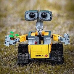 W magazynie seria gwiezdnych wojen 16003 Robot WALL E 21303 687 sztuk pomysły zestaw klocków bloki cegieł zabawki edukacyjne boże narodzenie|Klocki|Zabawki i hobby -