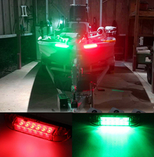 4 Boat Navigation LED Lighting Red & Green Waterproof Marine Utility Strip Bar  12V Accent