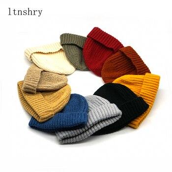 цена на 2019 new Winter Cashmere Hat for Women men Beanie Hip Hop fashion Winter Beanie Hat Knitted Warm Caps Unisex Warm Hat