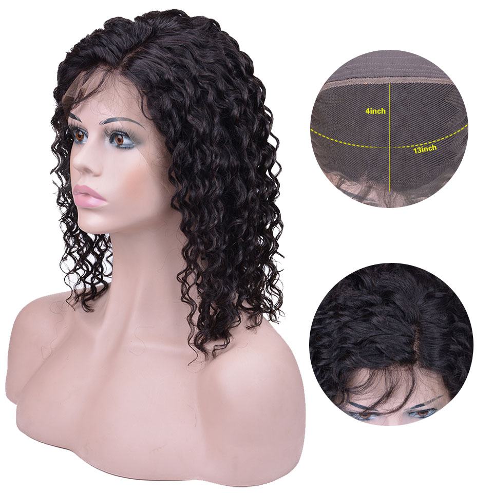 Lace Front Human Hair Wigs Deep Wave Wig Pre Plucked With Baby Hair Short Bob Wig For Black Women