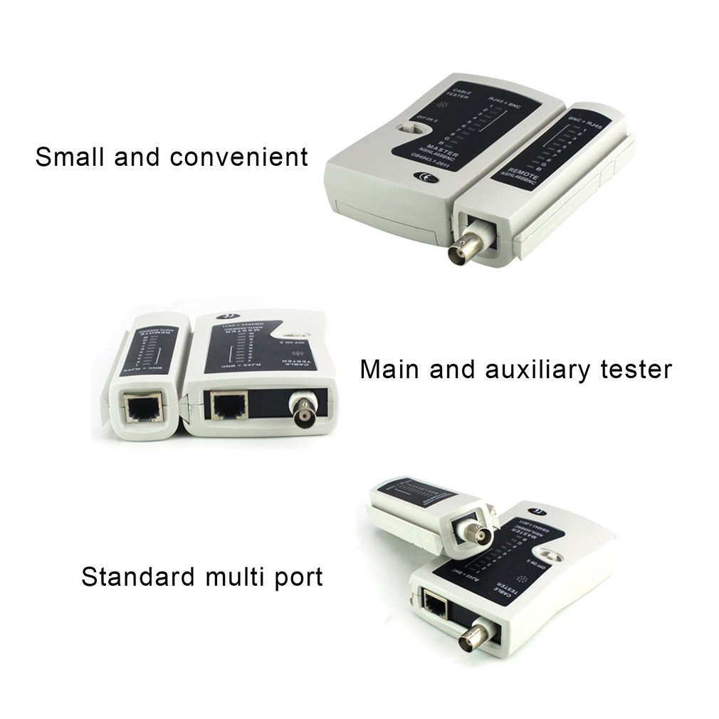 NST-YG468B Diagnostic Tool Portable LAN Network Cable Wire RJ45 BNC Network Cable Tester Detector Networking Remote Test