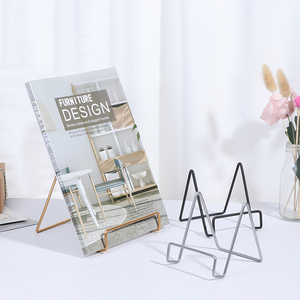 1PC S/M Iron Art Display Stand Dish Rack Plate Bowl Picture Frame Photo Book Pedestal Holder Home Decoration