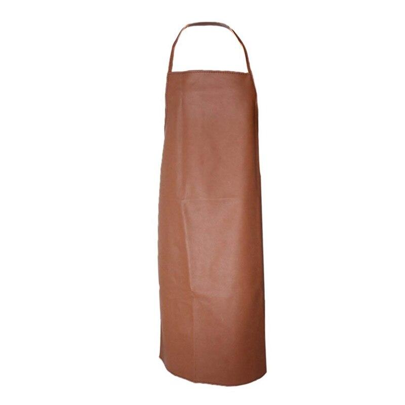 Waterproof Apron   PU Bib Apron   Kitchen Apron   PU Leather Apron   Brown|Aprons| |  - title=