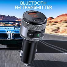 Универсальный Fm-передатчик Быстрый 3,0 двойной USB Handsfree умное автомобильное зарядное устройство VANJEW C57 Snelle Oplader Voor
