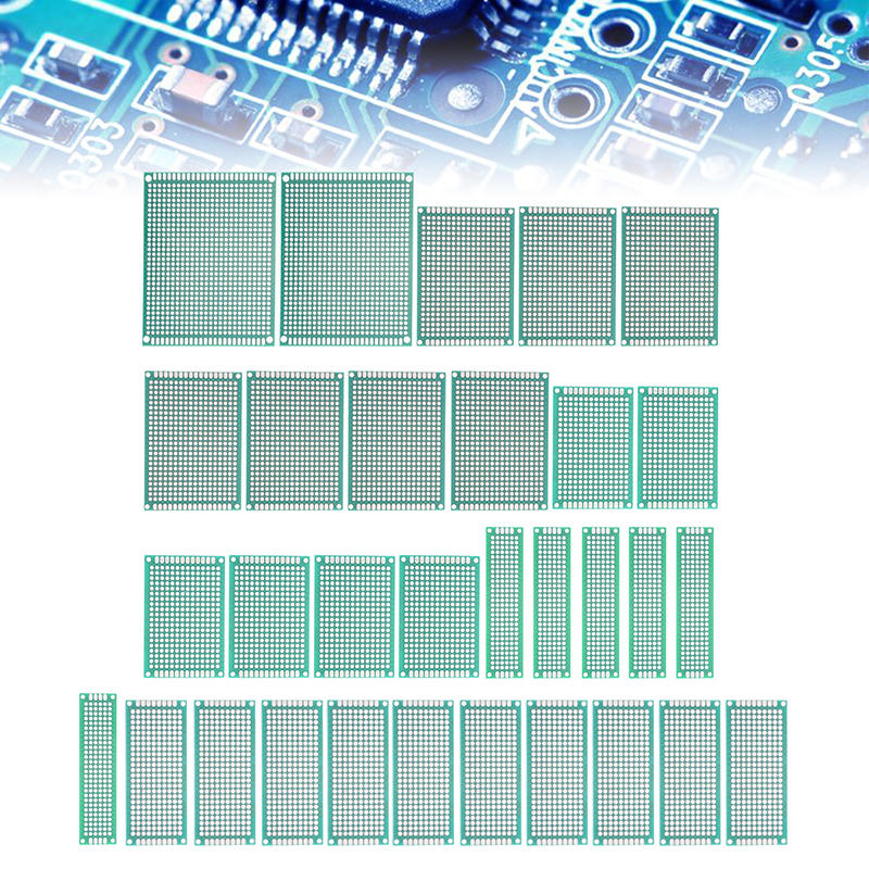 32 pecas dupla face verde tabua de pao pcb dot board prototipo placa circuito universal conjunto